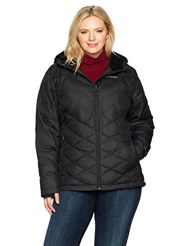 Columbia Women's Heavenly Hooded Jacket, Black, 2X