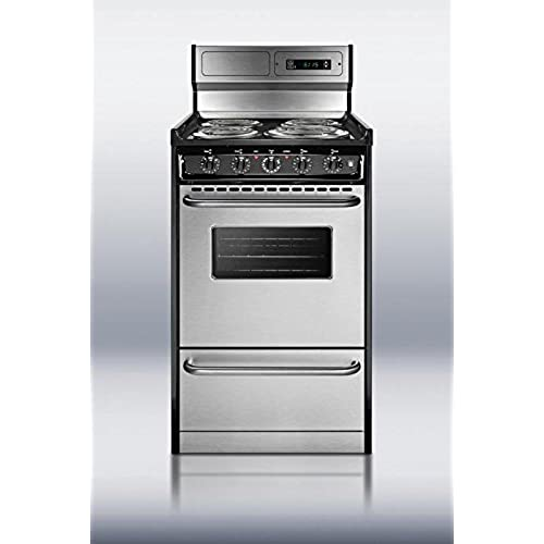 Summit TEM130BKWY Kitchen Cooking Range, Stainless Steel