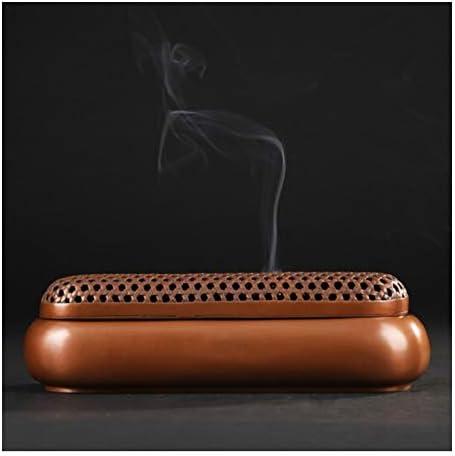 XYACM あらゆる機会のためのブラウンのお香スティックホルダーバーナー-Homeユーティリティ&アクセサリー - 瞑想&ヨガ、偉大な贈り物 ハンドメイド、禅ホルダーはすべての灰をキャッチ