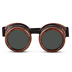 Solar Eclipse Spectacles - Shade 14 Goggles CE Certified Safe Sun Viewing, Adjustable One Size Fits All, Better Than Glasses! Solar Filter and Viewer (Copper)