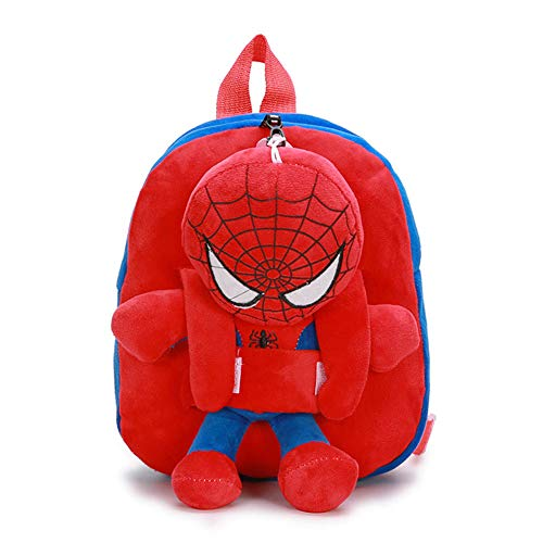 Purple GO2 Plush Detachable School Bag School Bag Spiderman Backpack Captain America Batman for Boys Children School Backpack Super Hero Design(3)