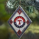 MLB Texas Rangers Art Glass Ornament