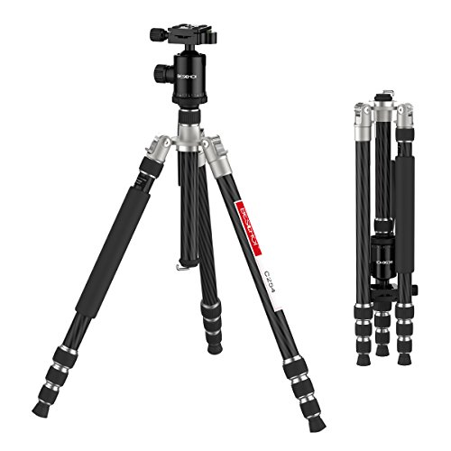 Beschoi Camera Tripod for DSLR SLR Lightweight Carbon Fiber Tripod with Ball Head Complete Tripod for Cameras for (Hiking Tripod Slr)