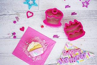 Lunch Punch Cakes Sandwich Cutter - Birthday Cake & Cupcake (Sandwich Punch)