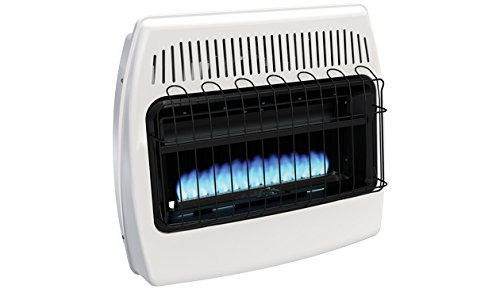 HeathRite Vent-Free Blue Flame Heater Natural Gas 30000 BTU, Thermostatic Control