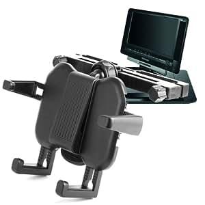 Extensible para reposacabezas de coche para y bandeja soporte de móvil para Orei DVD-P901, Verezano PDVD-12309C, Sony DVP-FX930, Sony DVP-FX950, Philips PD7016/37, Coby TFDVD7052, Coby TFDVD7009, Toshiba SDP74SWB SDP74, Toshiba SDP75SWB SDP75, Toshiba SDP95SWB SDP95 y SDP94SKB pantalla panorámica reproductor de DVD portátil, con brazos ajustables, de DURAGADGET