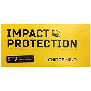 iPhone 6 / 6S Screen Protector - RhinoShield High Impact-Resistant Screen Protector [Hammer Resistant] Perfect Transparency and Premium Feel
