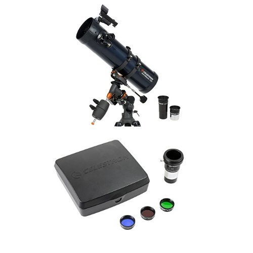 Celestron 31051 AstroMaster 130EQ MD Telescope with Mars Observing Telescope Accessory Kit/Deluxe kits and Eyepiece Filter