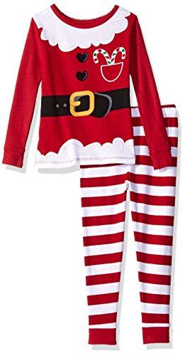 b46aa44214aa Komar Kids Girls  Little Holiday Print 2 Piece Cotton Tight fit ...