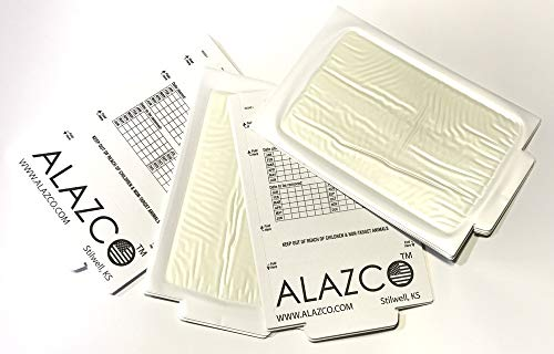 ALAZCO 12 Glue Traps - Excellent Quality Glue Boards Mouse Trap Bugs Insects Spiders Cockroaches Mice Trapper & Monitor NON-TOXIC by ALAZCO (Image #5)
