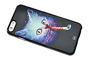 1888998362398 [Global Case] Crazy Cat Kitty Sunglasses Galaxy Stars Infinity Dream Nebula Smoking Planets Space Funny Nuke Laser (TRANSPARENT CASE) Snap-on Cover Shell for Samsung Galaxy S6 Edge