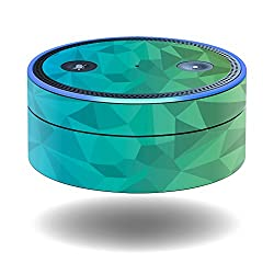 MightySkins Protective Vinyl Skin Decal for Amazon Echo Dot (1st Generation) wrap cover sticker skins Blue Green Polygon