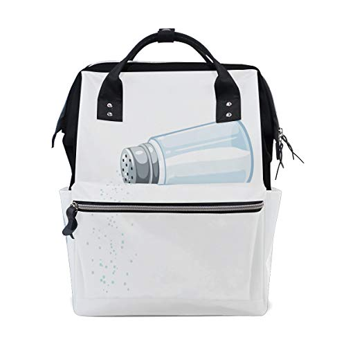 Salt Shaker Cooking Tools Large Capacity Diaper Bags Mummy Backpack Multi Functions Nappy Nursing Bag Tote Handbag for Children Baby Care Travel Daily Women (Cellar Hours Salt)