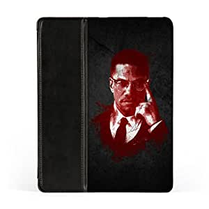 Malcolm X Premium Faux PU Leather Case, Protective Hard Cover Flip Case for Apple® iPad 2 / 3 and iPad 4 by DevilleArt + FREE Crystal Clear Screen Protector