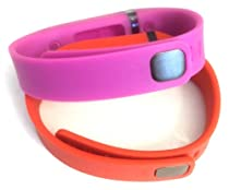 Set Large L 1pc Purple 1pc Red (Tangerine) Replacement Bands with Clasps for Fitbit FLEX Only /No tracker/ Wireless Activity Bracelet Sport Wristband Fit Bit Flex Bracelet Sport Arm Band Armband