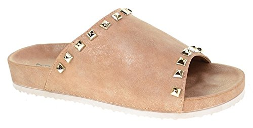 (Dirty Laundry by Chinese Laundry Women's Qiana Slide Sandal, tan Shimmer 7.5 M)