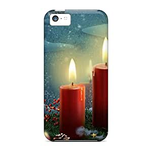 Awesome Cases Covers/iphone 5c Defender Cases Covers(lighted Candles Holidays)