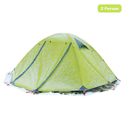 - Azarxis 1 2 Person 3 4 Season Backpacking Tents Easy Set Up Waterproof Lightweight Professional Double Layer Aluminum Rod Tent for Camping Outdoor Hiking Travel Climbing (Green)