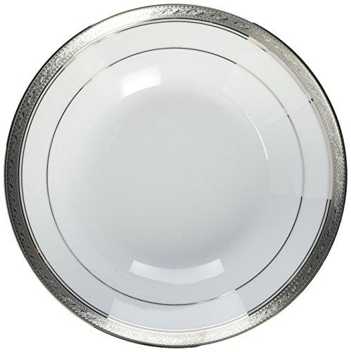 Noritake Crestwood Platinum Soup Bowl - Noritake Bowls Porcelain
