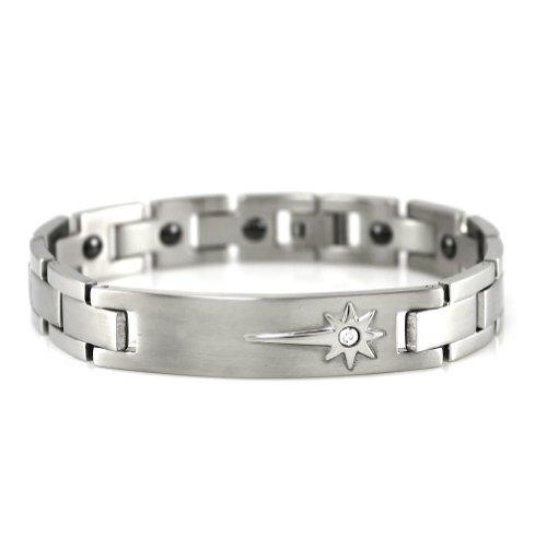Nouveau magnétique Crytal Hommes Puissance ionique Bracelet Band équilibre w / Retail Box