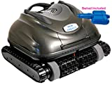 Nu Cobalt NC74 Wall Climber Scrubber Smart Logic Robotic Pool Cleaner with Caddy and Swivel Ideal for in Ground Pools up to 20' x 40'