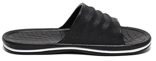 UNISEX BEACH Pantolette Fitness Badepantolette Slipper schwarz
