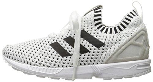 check out 4c71f 3715b adidas Originals Boys' ZX Flux PK J Sneaker, White/White ...