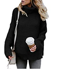 Turtleneck design will keep your neck warm, looks very modest and elegant       Simple Solid Pattern,this sweater can be worn alone, as well as goes well with coat, jacket, skirt, jeans and leggings       Made of Soft and Cozy Material...