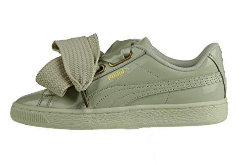 Puma Basket Heart Patent Wmns Beige Sneaker EU 36 UK 35