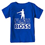 Kids Floss Like a Boss Flossin Dance Youth T Shirt (Royal, Youth XL)