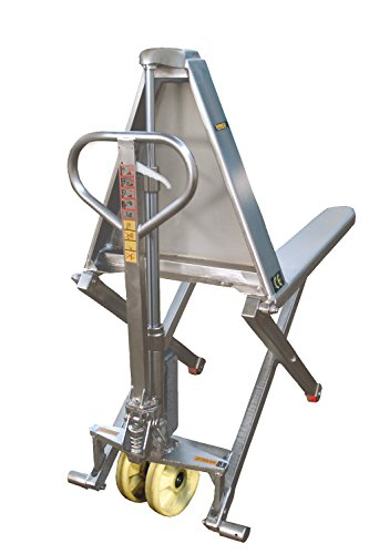 Wesco Industrial Products SSTHL27M High Lift Pallet Jack, Manual, Stainless Steel, 48