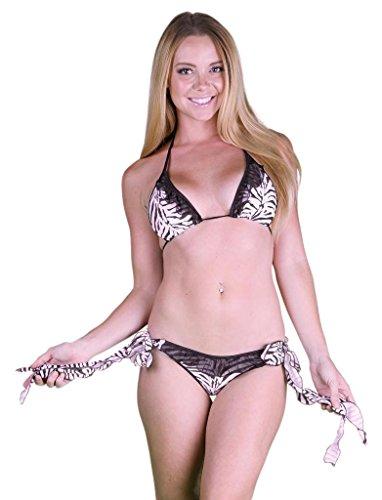 Ruffled Zebra Bikini - 5