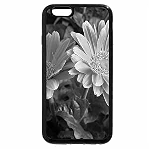 iPhone 6S Plus Case, iPhone 6 Plus Case (Black & White) - Flowers Pink daisy