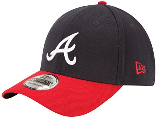 MLB Atlanta Braves Junior Team Classic Home 39Thirty Stretch Fit Cap, Blue, Toddler/Child ()