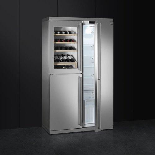 Smeg wf354lx Unterputz Keller Wein mit Kompressor Edelstahl ...