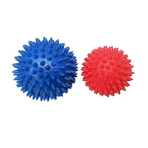 Body Back Company's Rhino Balls - Hard Spiky Massage Ball Set - Plantar Fasciitis Treatment, Trigger Point Therapy on Feet, Hands & (Trigger Point Therapy Hand)