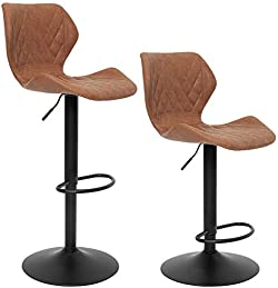 related image of SUPERJARE Set of 2 Adjustable Bar Stools