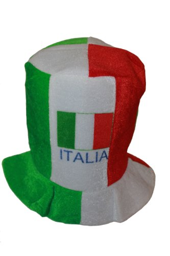 Italia Italy Country Flag Colors .. FIFA Soccer World Cup .. Tall Fool's Style Hat Cap .. .. New by SUPERDAVES SUPERSTORE