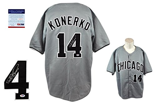 Paul Konerko Autographed Signed Jersey - Beckett Authentic - Gray