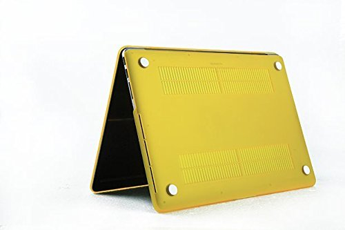 HYAIT 3-in-1 Ultra Slim Matt Hard Case + Keyboard Cover + Anti-dust Plugs For 13-inch Model A1425 / A1502 MacBook Pro (with 13.3-inch Retina Display) - Yellow