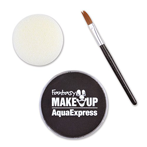 Bristol Novelty MU289 Aqua Makeup Kit with Sponge and Brush, Black, One Size