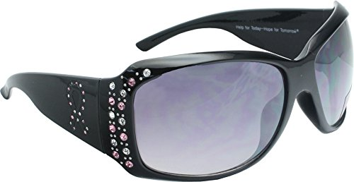 True Gear iShield Breast Cancer Awareness Sunglasses (Black with Black - Cancer Sunglasses