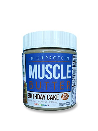 Cashew Nut Cake - You Fresh Naturals - Birthday cake with Sprinkles Muscle Butter - High Protein (10 grams) Gluten Free Cashew Nut Butter - Easy To Use and Versatile
