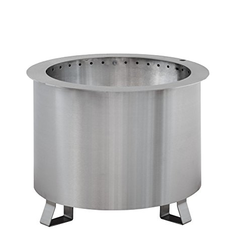 Patio Fire Pit | Smoke-Reducing, Portable, 304 Stainless Steel, 100% American Made by Double Flame - Best Fire Hearth Patio