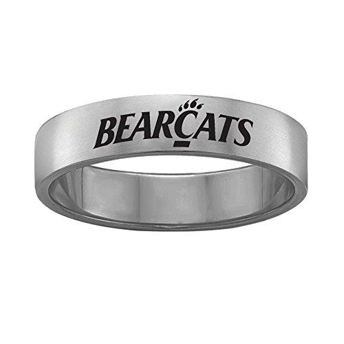 Cincinnati Bearcats Ring Stainless Steel 6MM Wide Band - Single Logo Style (12)