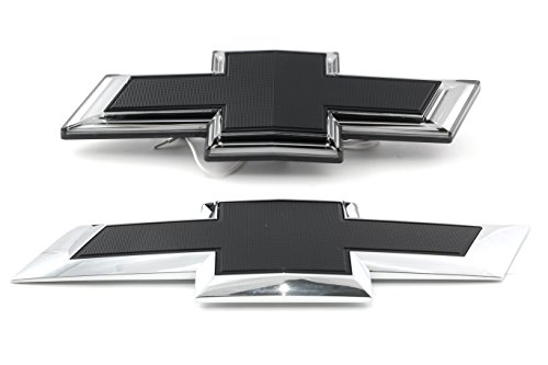 OEM NEW Illuminated Bow Tie Emblem Kit Front Rear Black 17 Silverado HD 23385942 by GMC