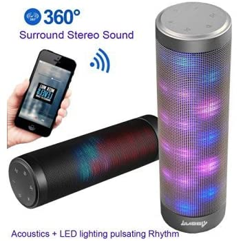 Amazon Com Sharper Image Sbt1003bk Bluetooth Speaker With