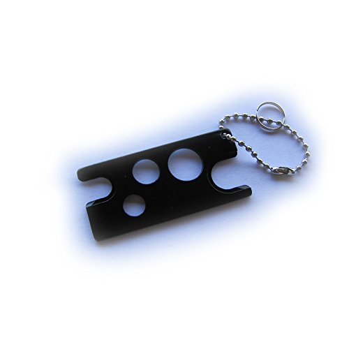 eQualle Roll On Ball Bottle Essential Oil Metal Opener Tool (Black) For Sale
