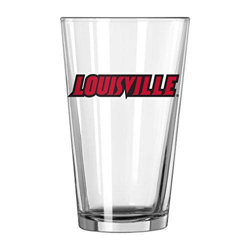 NCAA Louisville Cardinals Wordmark Pint Glass, 16-ounce