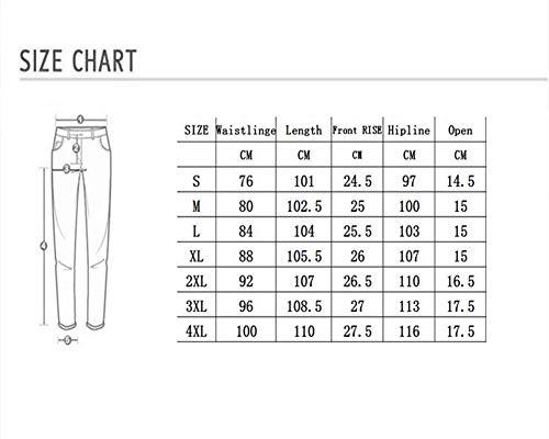 Noir blue Taille Mode Jeans Un Coton Serré Confortable Hommes Petit Haute Pantalons Black Bout xxxl Bleu Gzyd Droit Pour Denim La Plier vwYOOHq
